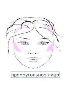 как румяна правильно наносить на прямоугольное лицо