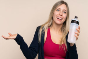 бессолевая диета, спортсменка с водой