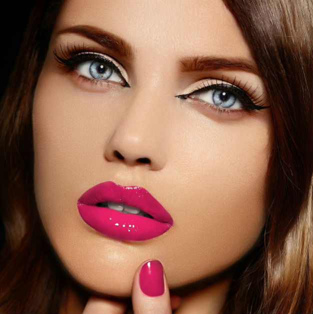 гламурный красивый макияж