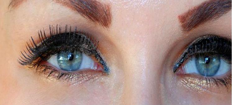 макияж синих глаз