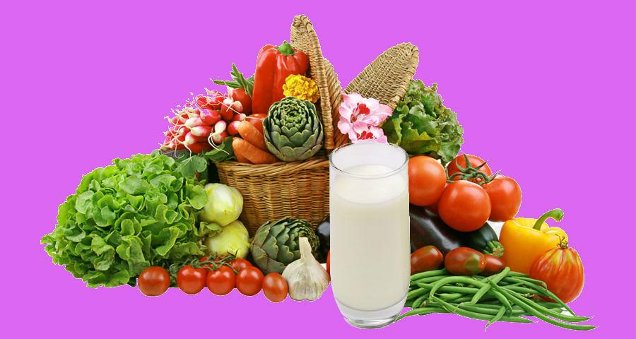 Полосатая диета включает кефир и овощи