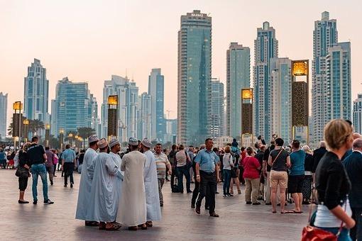 На отдыхе в Дубае много туристов