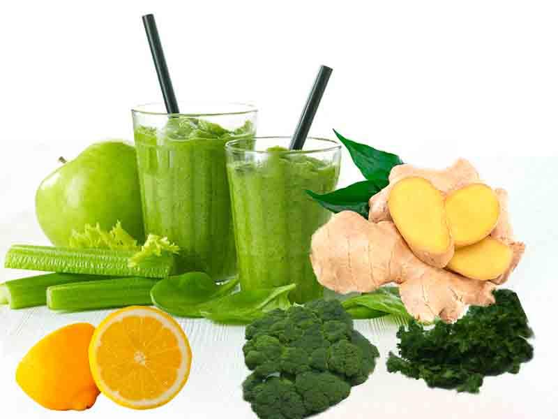 Продукты из которых изготавливается сок для сиртфуд диеты.