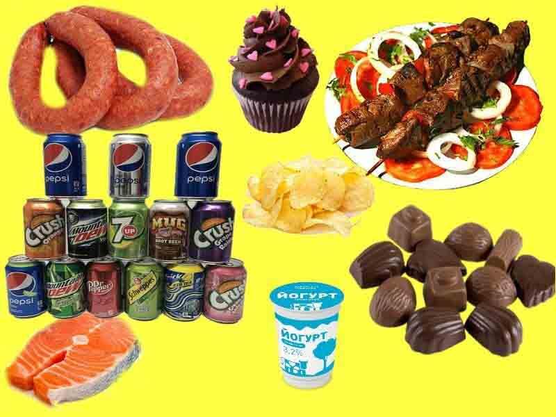 на фото изображена самая вредная еда
